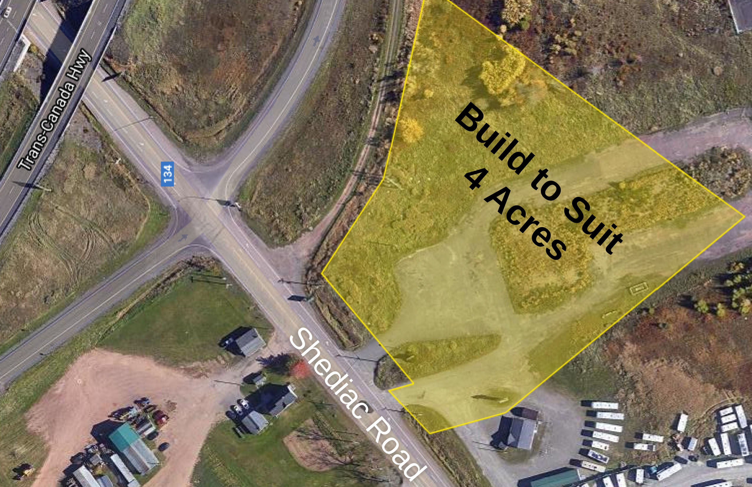 map view of future build to suit locations near Shediac Road